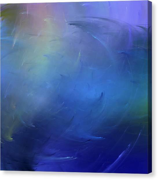 Stormy Seas Indigo Canvas Print