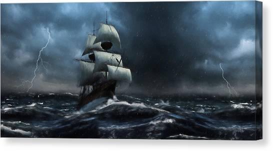 Stormy Seas - Nautical Art Canvas Print