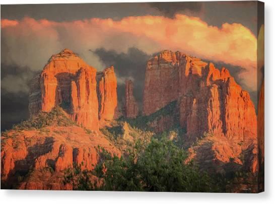 Stormy Sedona Sunset Canvas Print