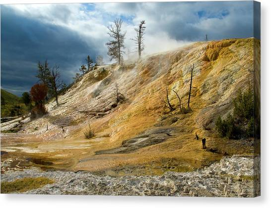 Stormy Skies At Mammoth Canvas Print