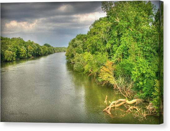 Stormy Skies Over The Coosa River Canvas Print