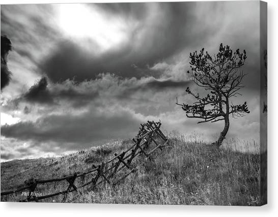 Stormy Sky At The Ranch Canvas Print
