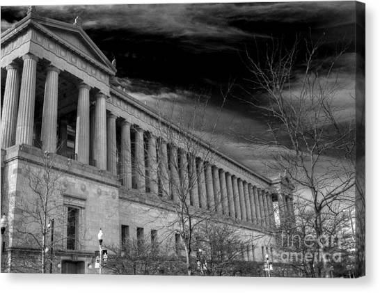 Soldier Field Canvas Print - Stormy Soldier by David Bearden