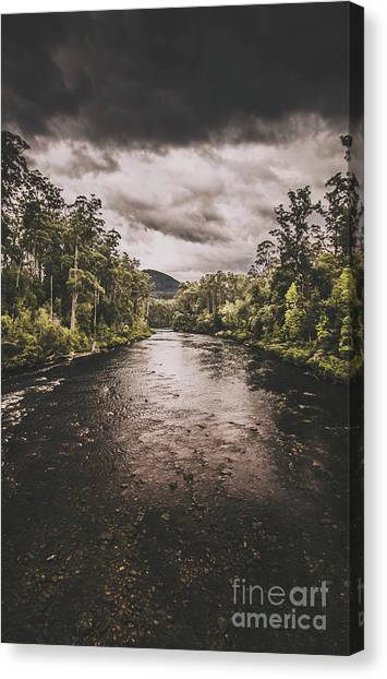 Cloudscape Canvas Print - Stormy Streams by Jorgo Photography - Wall Art Gallery