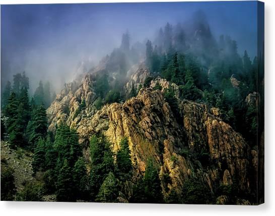 Stormy Wasatch- Fog Canvas Print