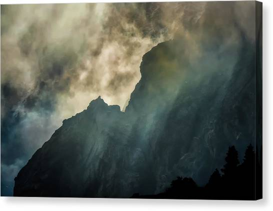 Stormy Wasatch- Rays Canvas Print