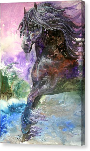 Stormy Wind Horse Canvas Print