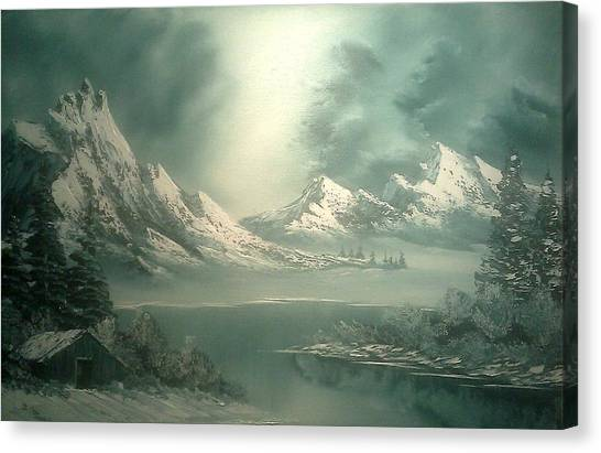 Bob Ross Canvas Print - Stormy Winter by John Koehler