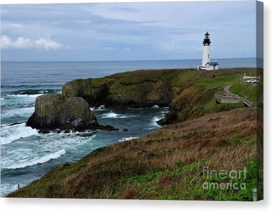 Stormy Yaquina Head Lighthouse Canvas Print