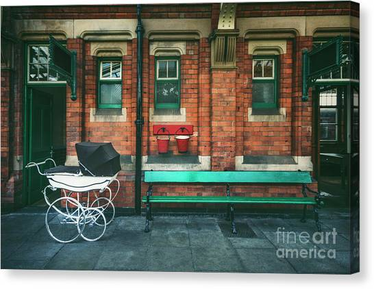 Old Train Canvas Print - Story Of The Past by Evelina Kremsdorf