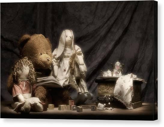 Teddy Bears Canvas Print - Story Time by Tom Mc Nemar