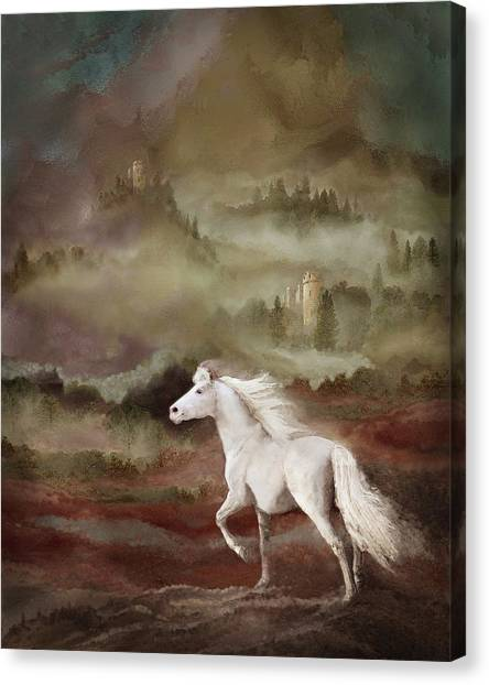 Canvas Print featuring the photograph Storybook Stallion by Melinda Hughes-Berland