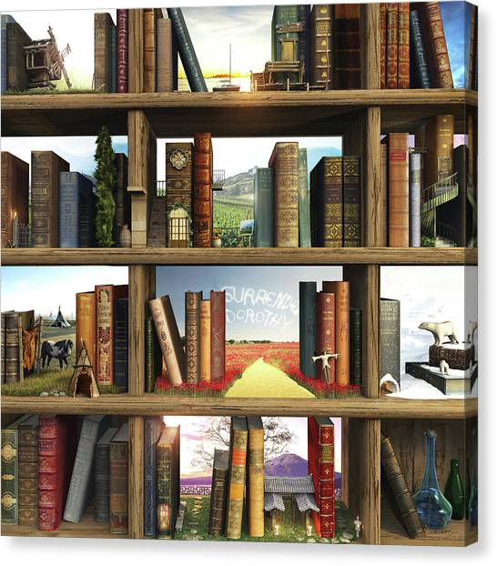 Book Canvas Print - Storyworld by Cynthia Decker