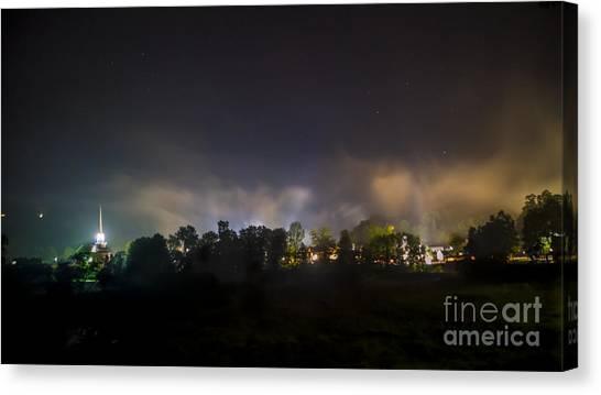 Stowe Vermont After Dark. Canvas Print
