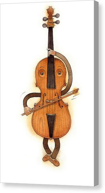 Music Canvas Print - Stradivarius Violin by Kestutis Kasparavicius