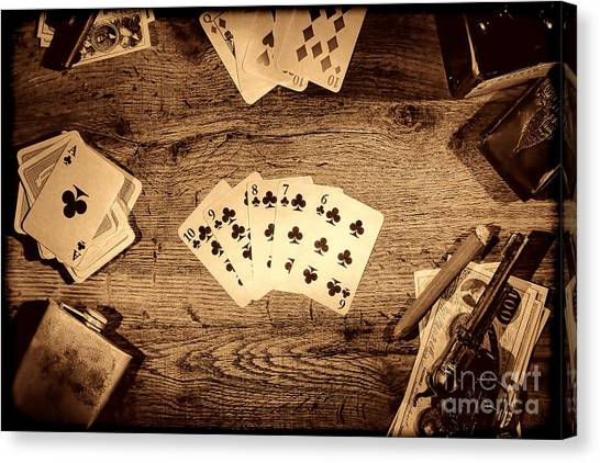 Straight Flush Canvas Print