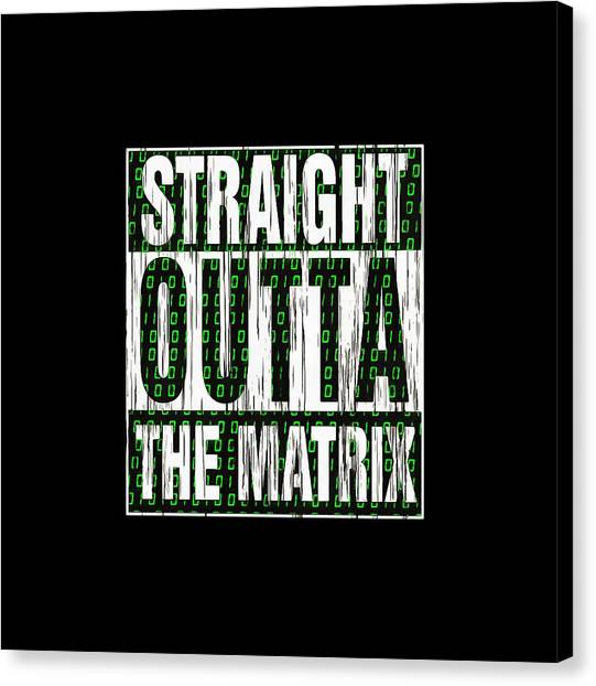 Keanu Reeves Canvas Print - Straight Outta Matrix by Eva Sartiyem
