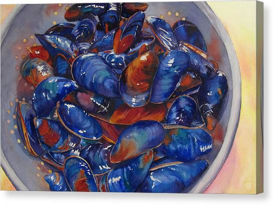 Strained Mussels Canvas Print