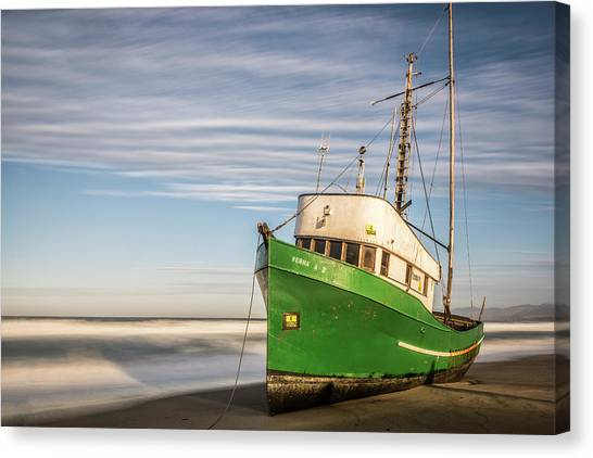 Stranded On The Beach Canvas Print
