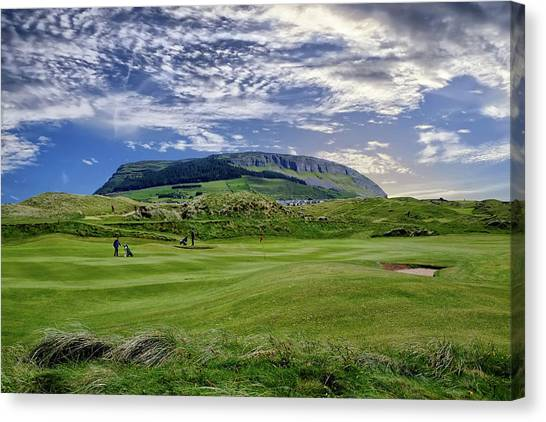 Strandhill Golf Course And Knocknarae Canvas Print