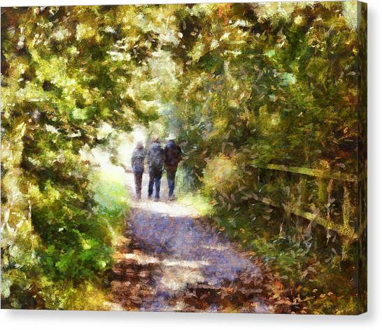 Strangers On A Footpath / In To The Light Canvas Print