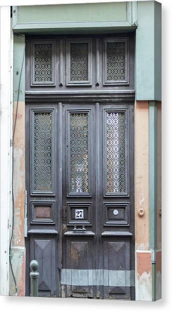 Timeworn Canvas Print - Strasbourg Door 06 by Teresa Mucha