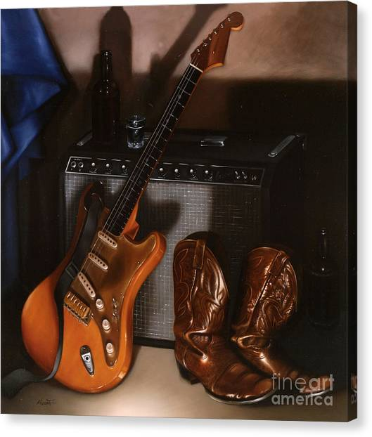 Stratocasters Canvas Print - Strat by Lawrence Preston