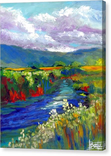Strata Plein Air Canvas Print by Bente Hansen