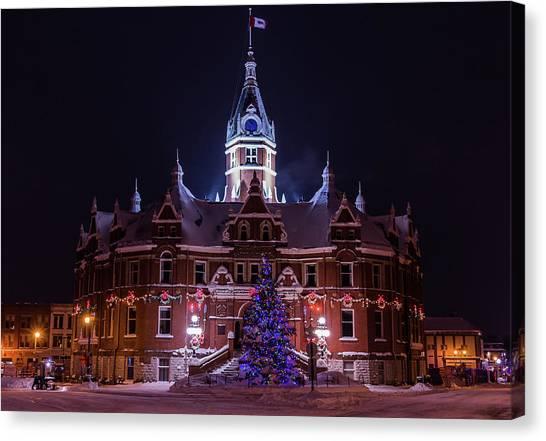 Stratford City Hall Christmas Canvas Print