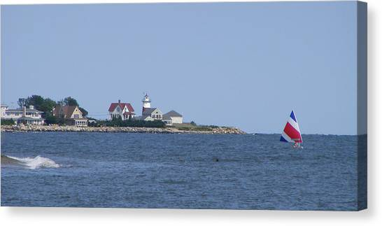 Stratford Ct Lighthouse Canvas Print by Margie Avellino