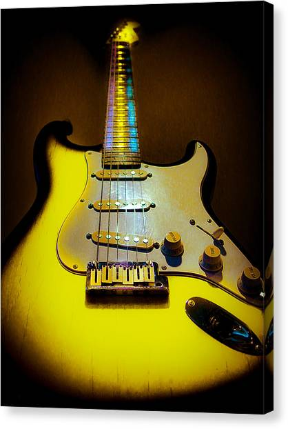 Stratocaster Lemon Burst Glow Neck Series Canvas Print