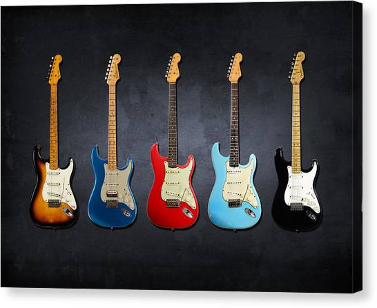 Electric Guitars Canvas Print - Stratocaster by Mark Rogan