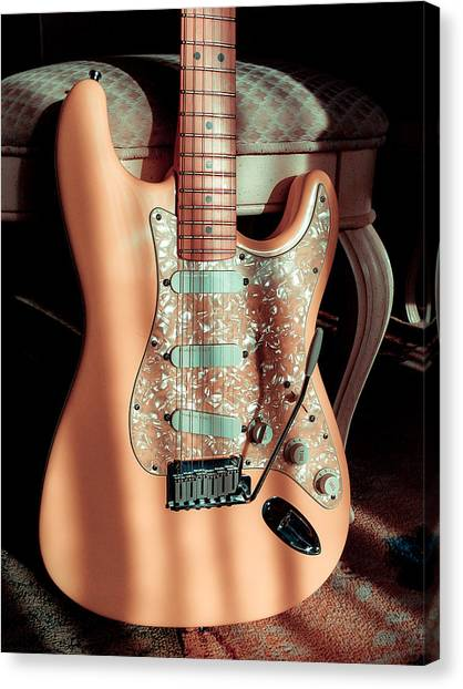 Stratocaster Plus In Shell Pink Canvas Print