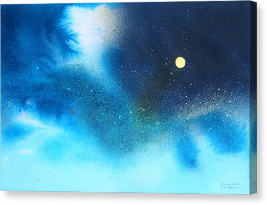 Stratos Moon Canvas Print