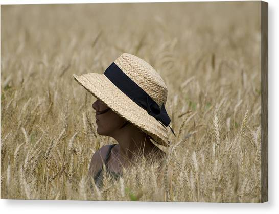 Straw Hat Canvas Print