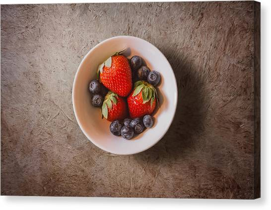 Kitchen Canvas Print - Strawberries And Blueberries by Scott Norris