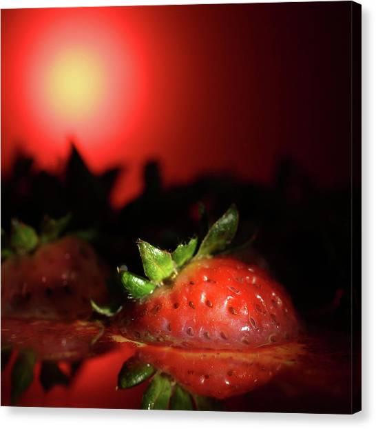 Strawberries In Motor Oil Canvas Print