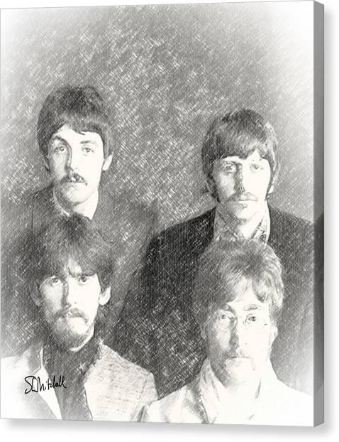 Strawberry Beatles  Canvas Print