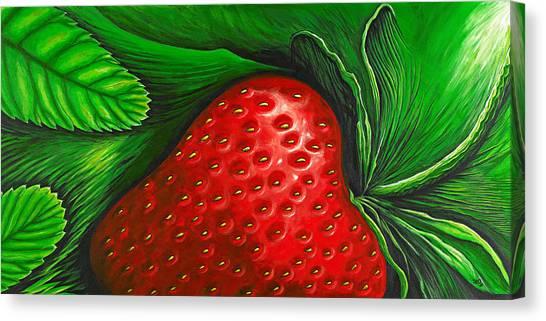 Strawberries Canvas Print - Strawberry by David Junod