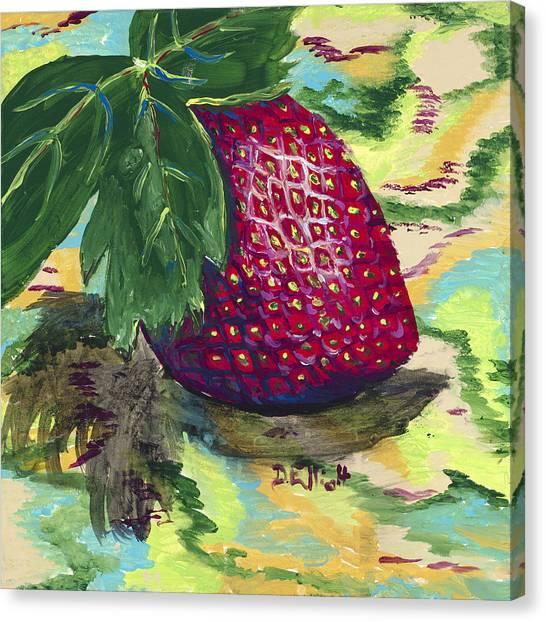 Strawberry Canvas Print by Davis Elliott