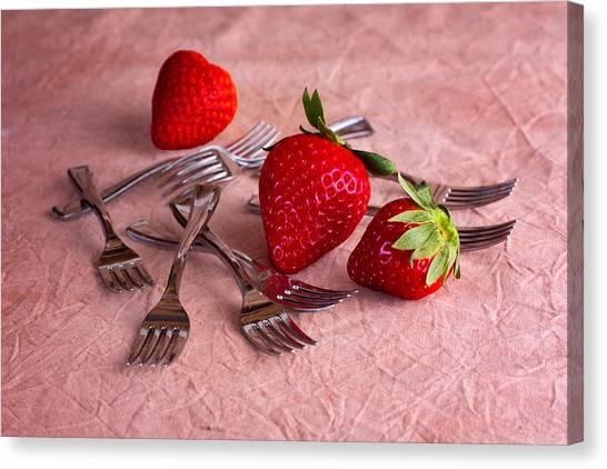 Strawberries Canvas Print - Strawberry Delight by Tom Mc Nemar