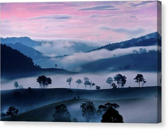 Sunrise Horizon Canvas Print - Strawberry Fields by Az Jackson