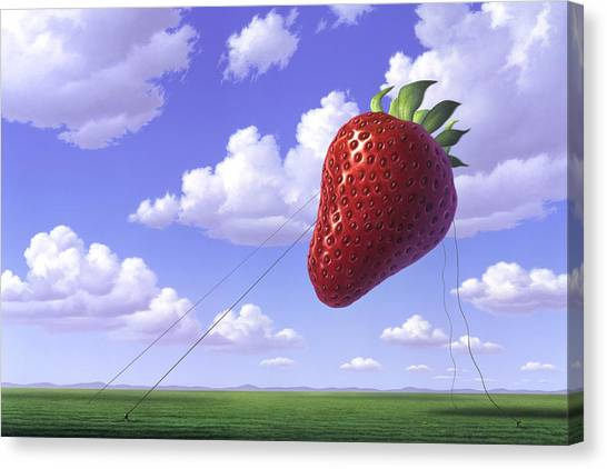 Balloons Canvas Print - Strawberry Field by Jerry LoFaro