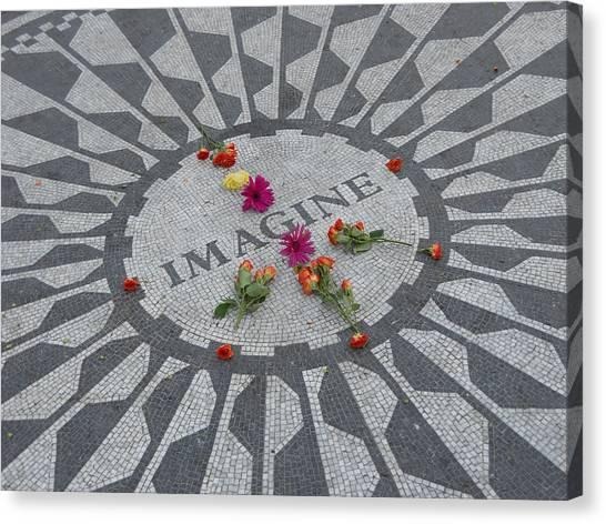 Yoko Ono Canvas Print - Strawberry Fields Central Park by Jim Ramirez