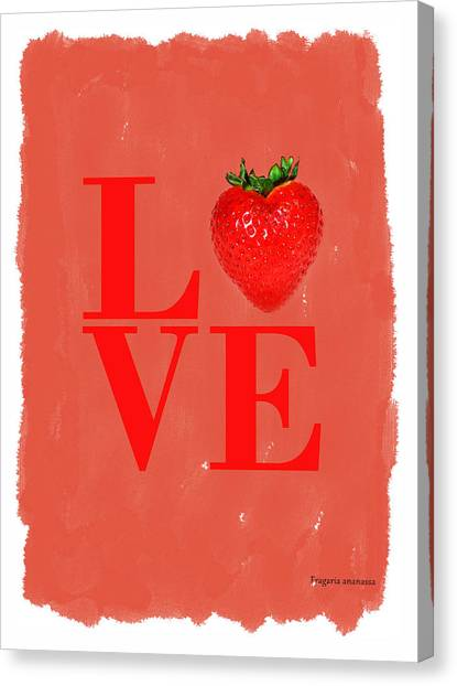 Melons Canvas Print - Strawberry by Mark Rogan