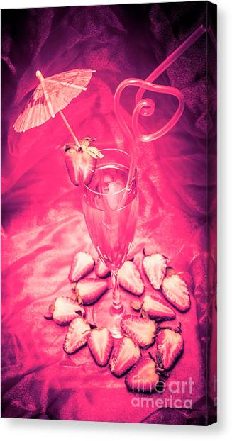 Martini Canvas Print - Strawberry Martini In Pink Light by Jorgo Photography - Wall Art Gallery