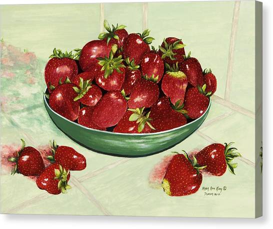 Strawberry Memories Canvas Print