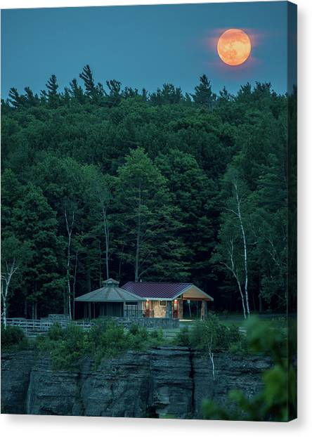Strawberry Moon Canvas Print