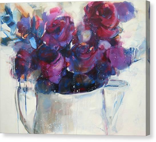 Strawberry Ripple Canvas Print by Sharleen Boaden