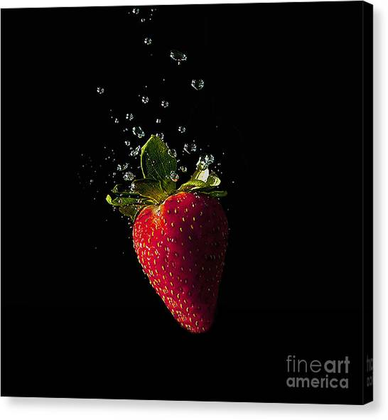 Strawberry Splash Canvas Print